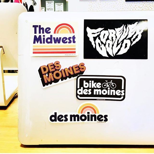 Hey Des Moines, we are in you. Find our stickers and lots of other rad stuff at @iluvdomestica . . #acmelocal #stickers #desmoines #iowa #bikeiowa #ragbrai #DSM #design #graphicdesign #branding #typography