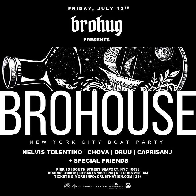 This is gonna be epic... who's ready to bro down with me and the boys @brohugofficial at #brohouse . . . . . . . . . #boatparty #nyc #housemusic #hornblowercruise #djmusicproducer #housemusiclovers #futurehousemusic #electrohousemusic #lovehousemusic #deephousemusic #edm #edmlife #edmfamily #edmlifestyle #EDMLove #edmmusic #edmvibes #rave #dj #edmdj #talentedmusicians #EDMfriends #edmlovers #theedmblogger #musicproducerlife