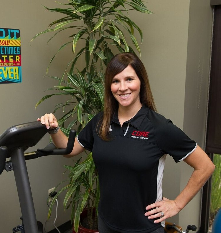 Julie Waltemath, DPT - graduated with a Bachelor of Kinesiology from Kansas State University in 2005 and with a Doctor of Physical Therapy from WSU in 2008, being named the Outstanding Orthopedic and Sports Medicine student in her class. Her areas of interest include general orthopedics, sports, and the spine.