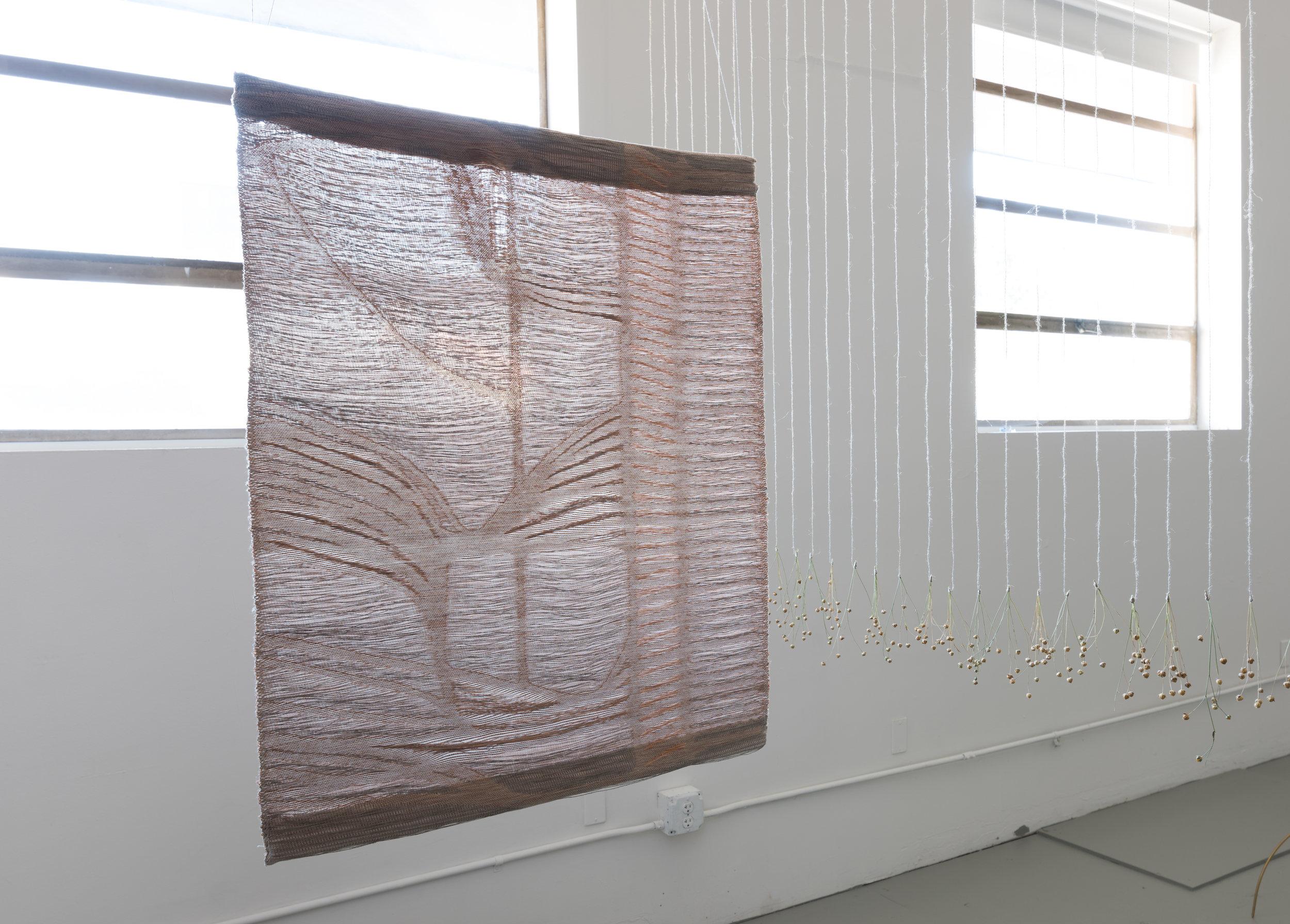 2017  [BACK view] digital jacquard weaving, linen weft: nervous system