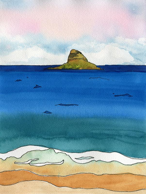 "16x12""  Mokoliʻi  Art Print available in my  shop ."