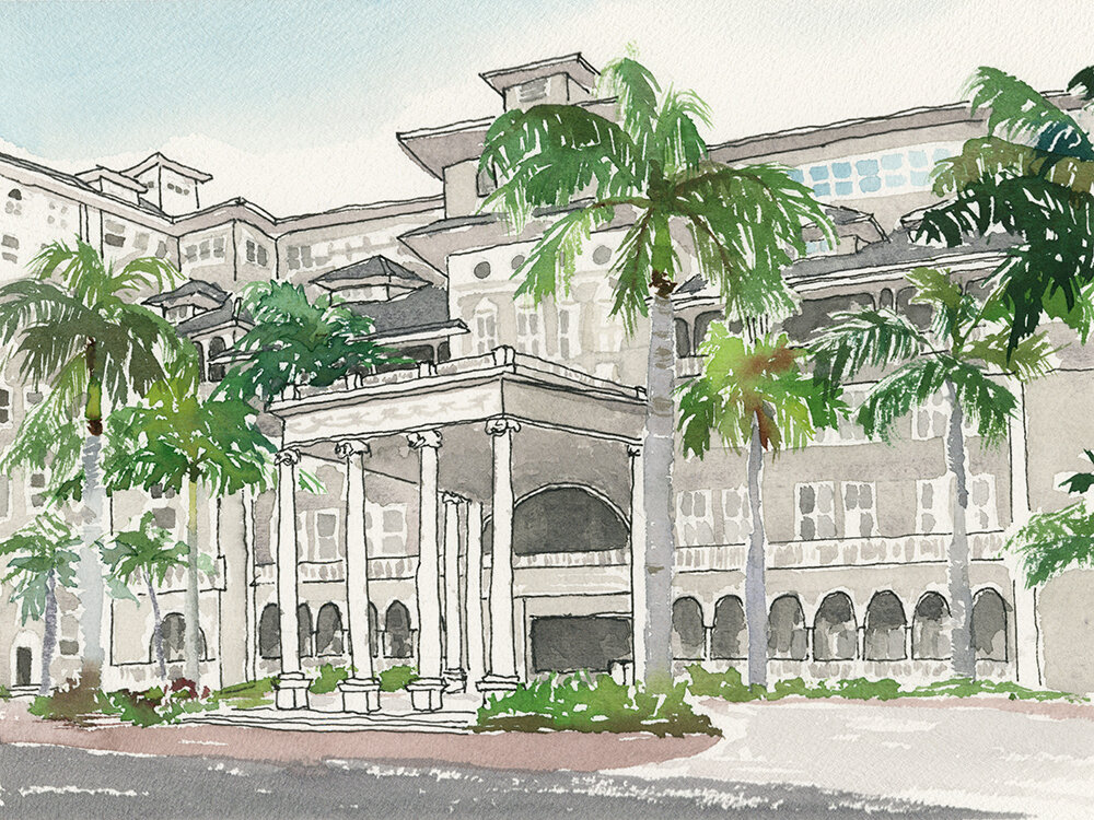 The Moana Surfrider, Hawaii's first hotel, Honolulu