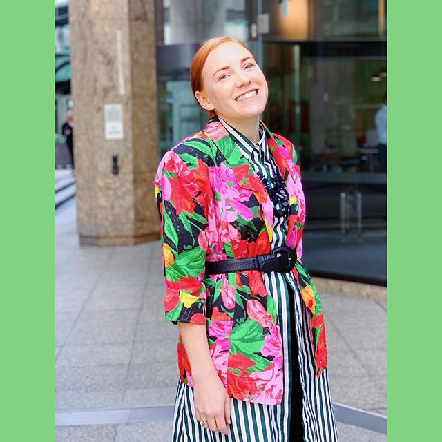 Blazer game is still strong for #spotmystyle. 🌸🌼🌺This floral babe was an #opshopfind (of course) from @vinniesnsw. Paired with Zara shirt dress from @redcrossshops and accessories from @goodwillopshop and #handmedowns. 🌸🌼🌺 #realstreetstyle #fashrev #patternclash #printclashcrush