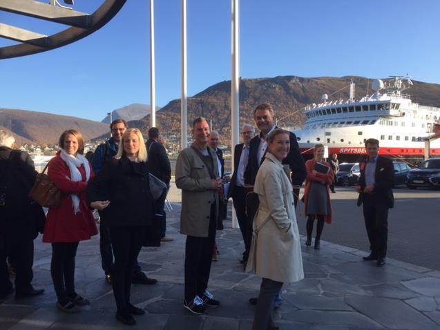 Besök på Hurtigruten
