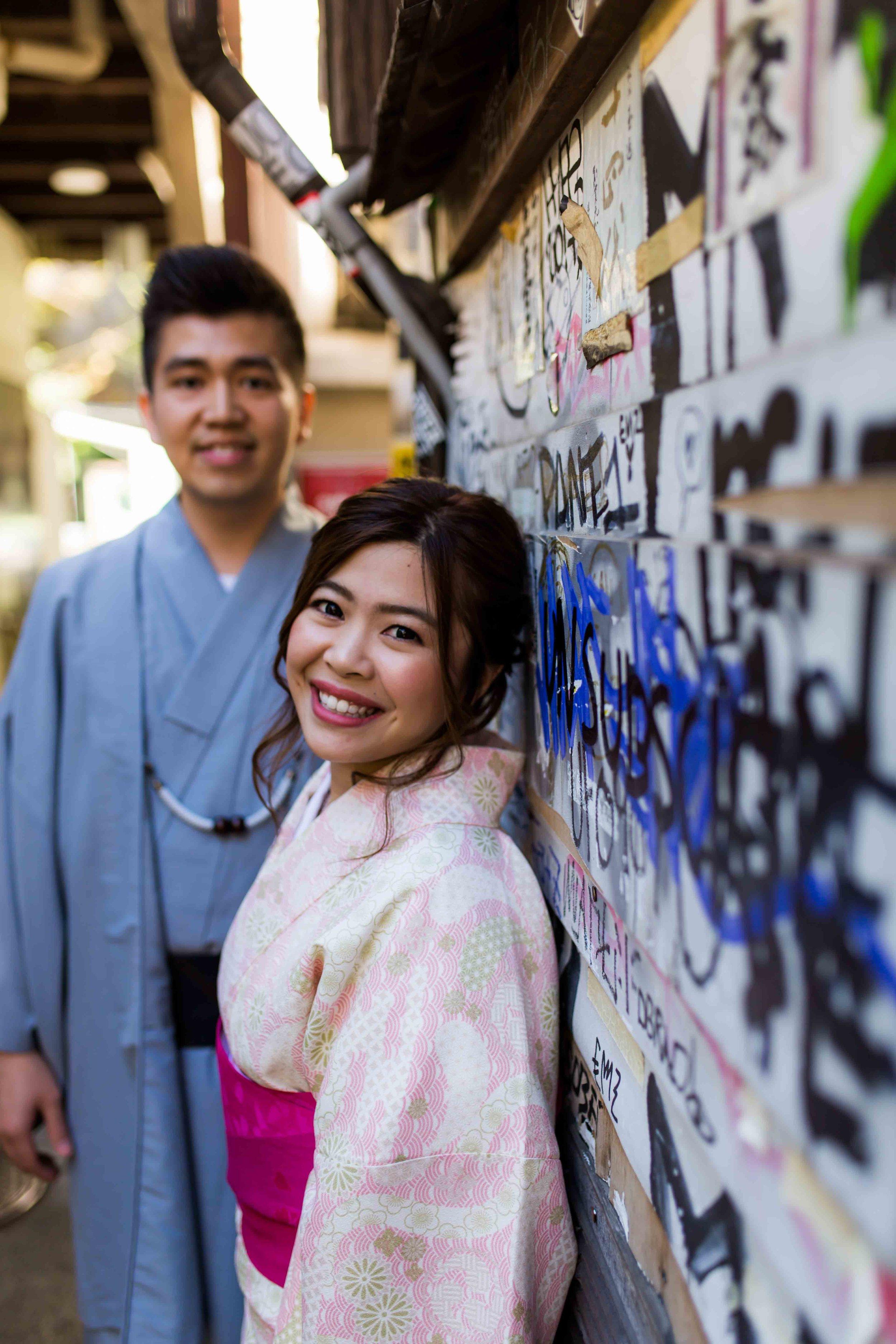 Couples photos in kimono, Tokyo