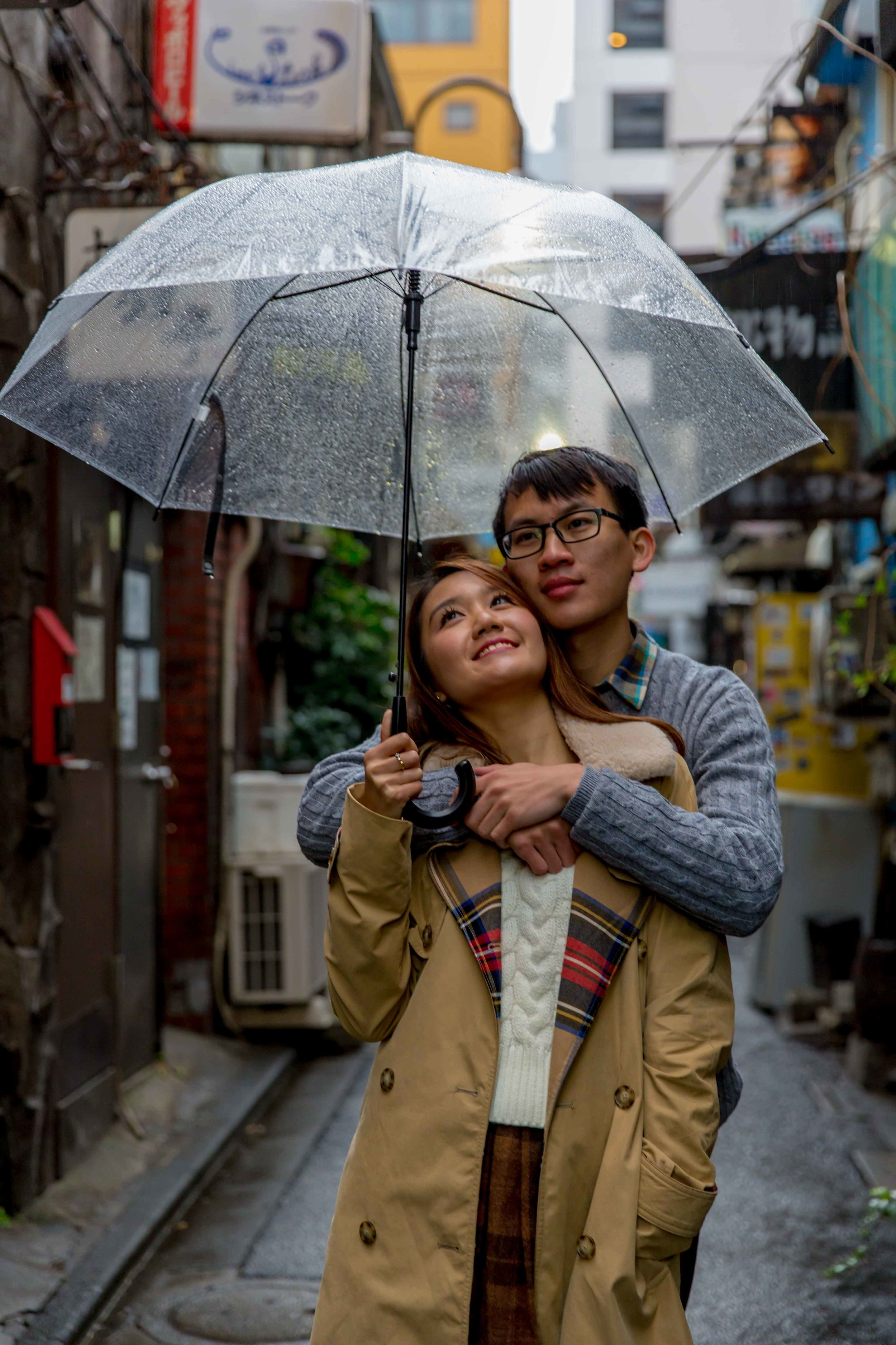 Shinjuku in the rain
