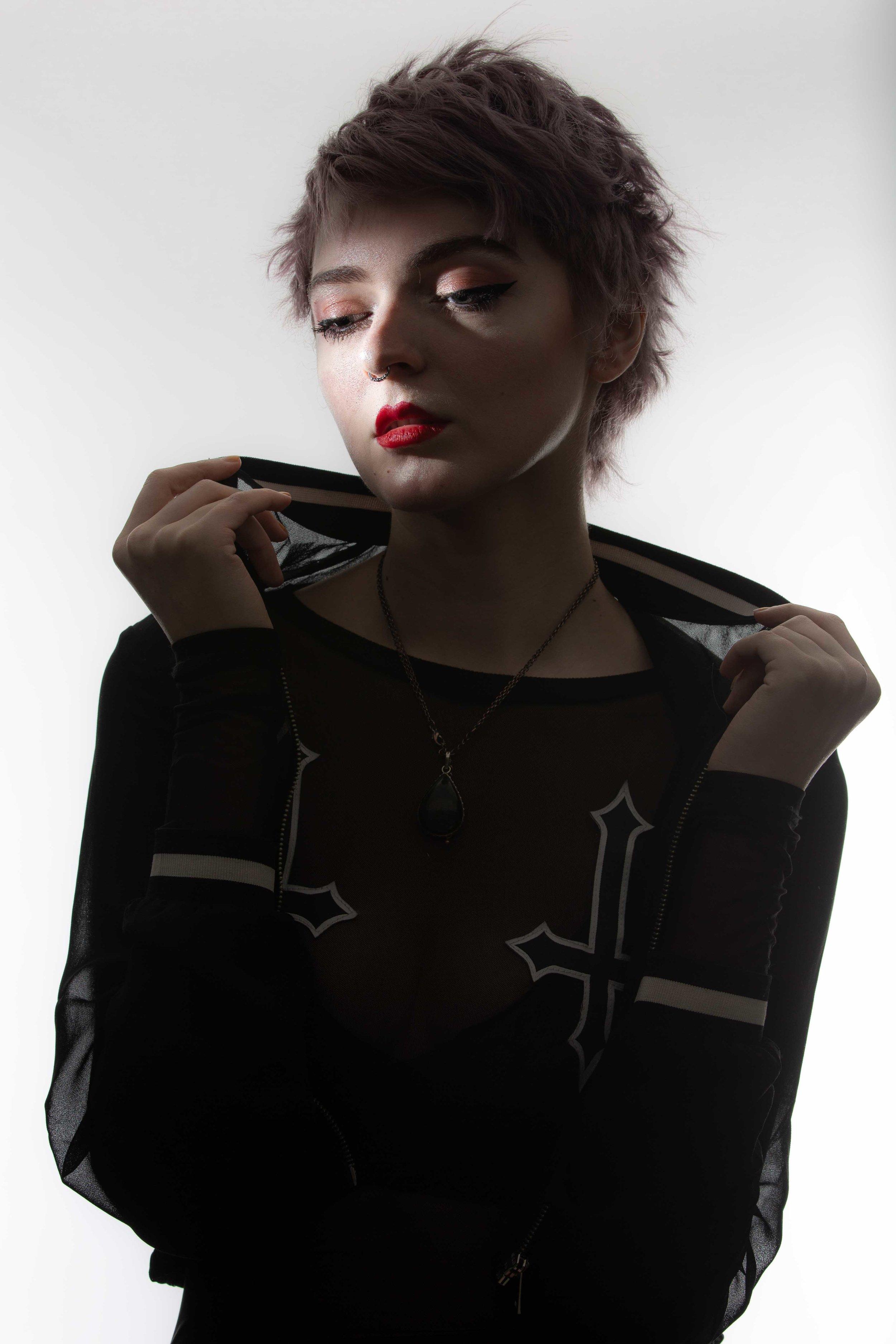 Model shoot in studio