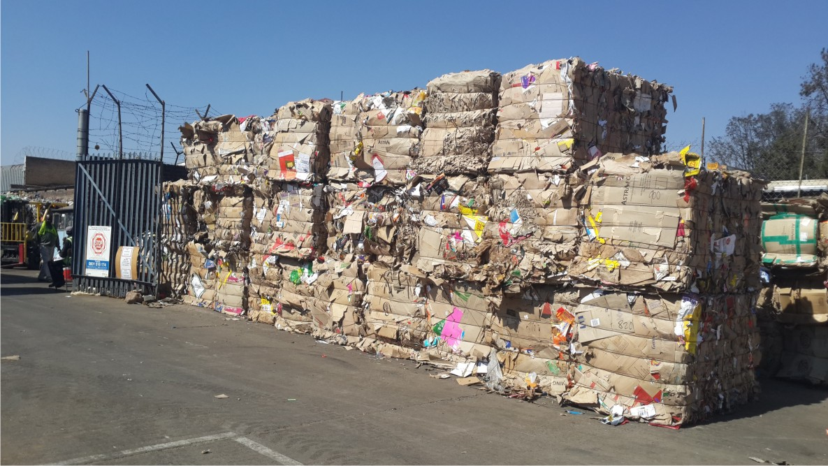 Baled paper