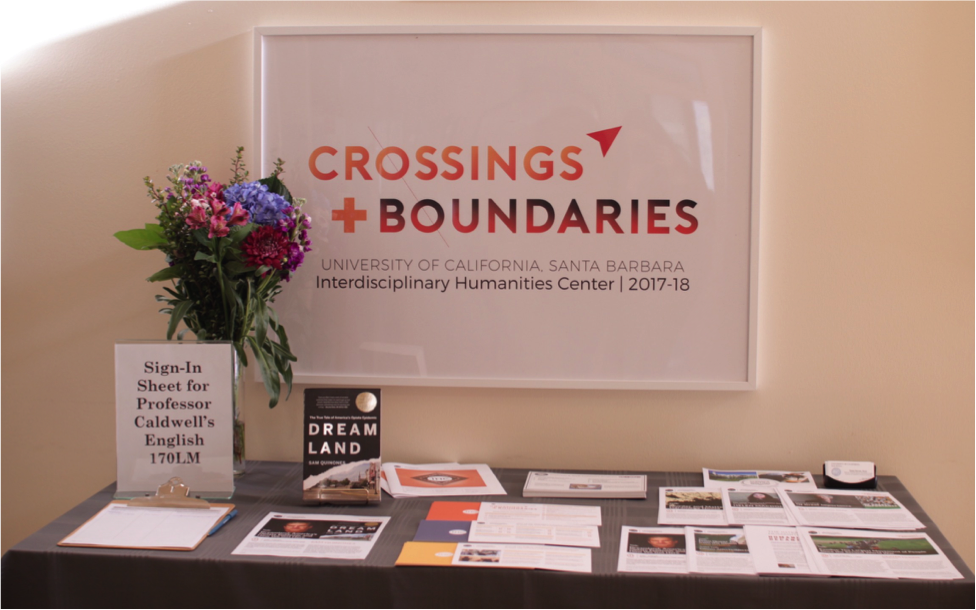 Quinones' talk was part of a lecture series called  Crossings + Boundaries  hosted by the Interdisciplinary Humanities Center (IHC).
