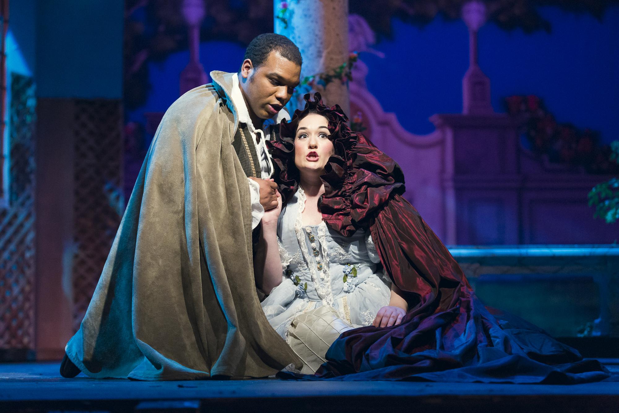 Byron Mayes, playing Figaro and Naomi Merer playing Susanna. ( Photo by Matt Perko)