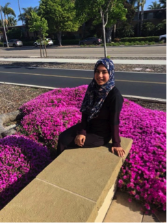 Sabah Hamad, a graduate student who is combining Arabic, Hebrew and Black Studies.