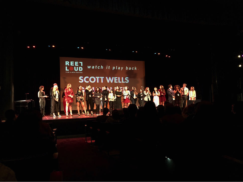 Organizers and volunteers who helped put on Reel Loud, took their bows after the evening of screenings.