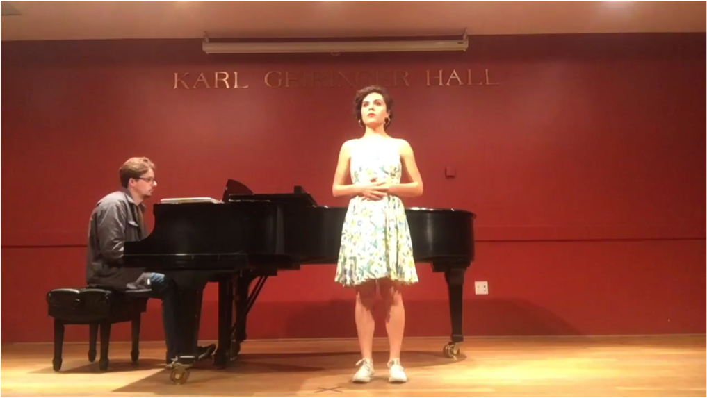 Kelly Newberry performs at UCSB with pianist Jared Eben.