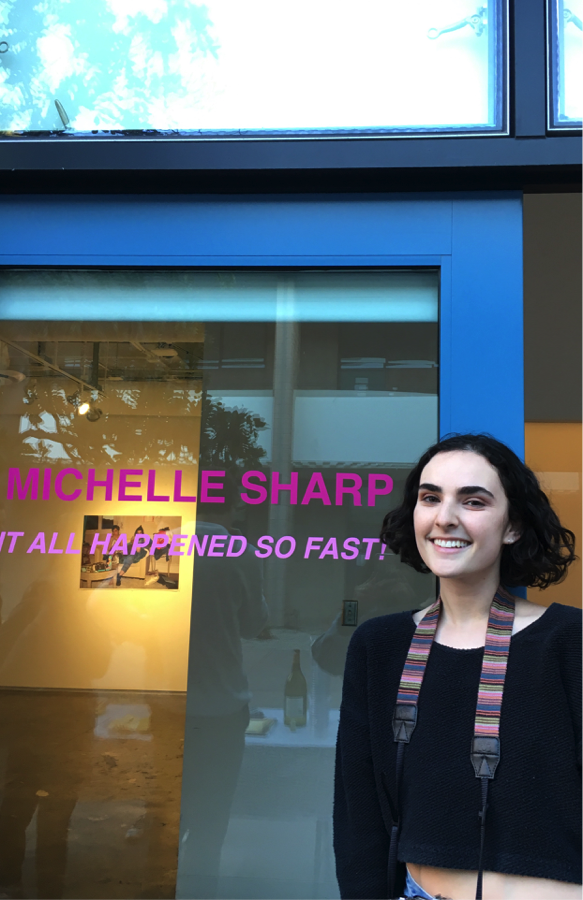 """""""It All Happened So Fast!"""" is one of the multiple Glass Box Gallery exhibits Michelle Sharp has premiered. This one in particular was featured in late February, 2018."""