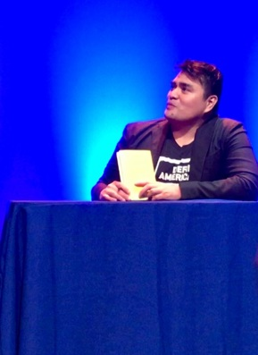 Vargas speaks to a UC Santa Barbara audience at Campbell Hall about the challenges undocumented immigrants face.