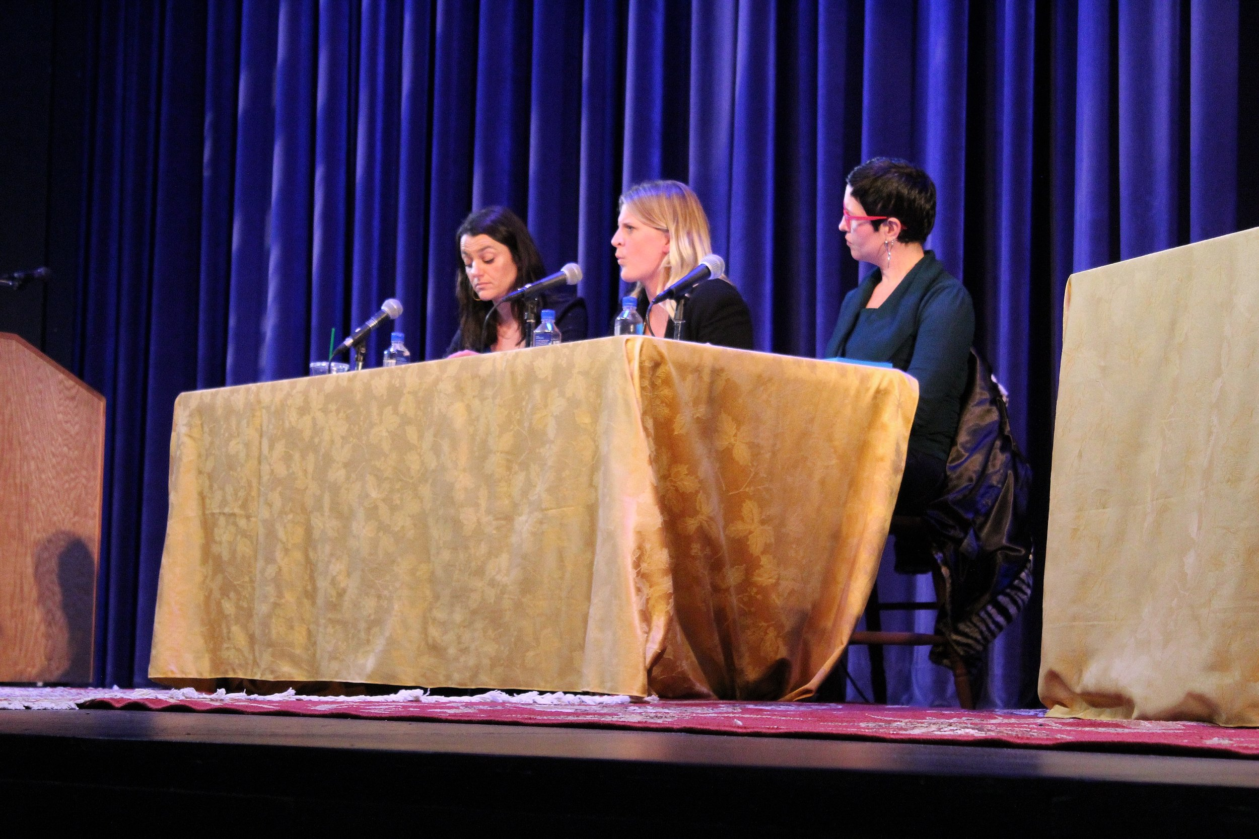 From left to right, panelists Annika Speer, Kelli Coleman-Moore, and Rebecca Prather.