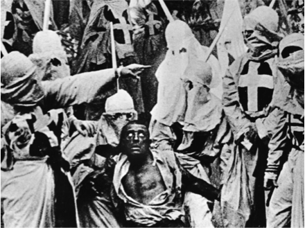 """A scene from D.W. Griffith's 1915 film, """"The Birth of a Nation."""" (Credit: NYPL/Smith Collection/Getty Images)"""