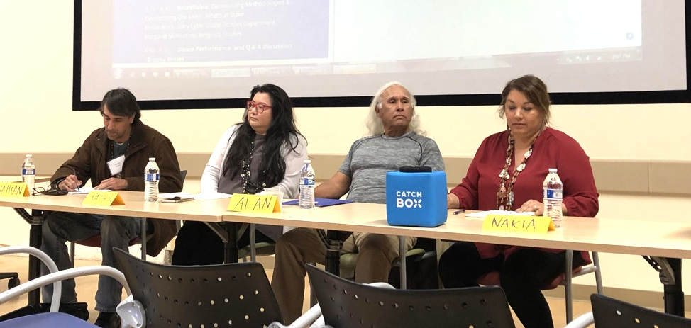 """Salazar and others on the Saturday afternoon panel, """"Chumash Community Conversations."""""""