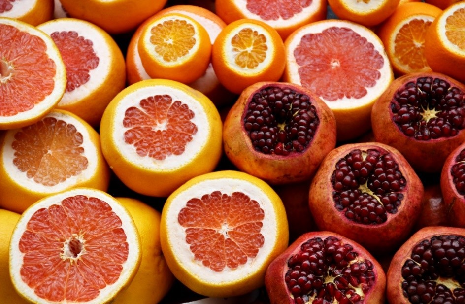 Depicted by different citrus fruits, orange comes in many shades and hues. (Photo by Israel Egio)