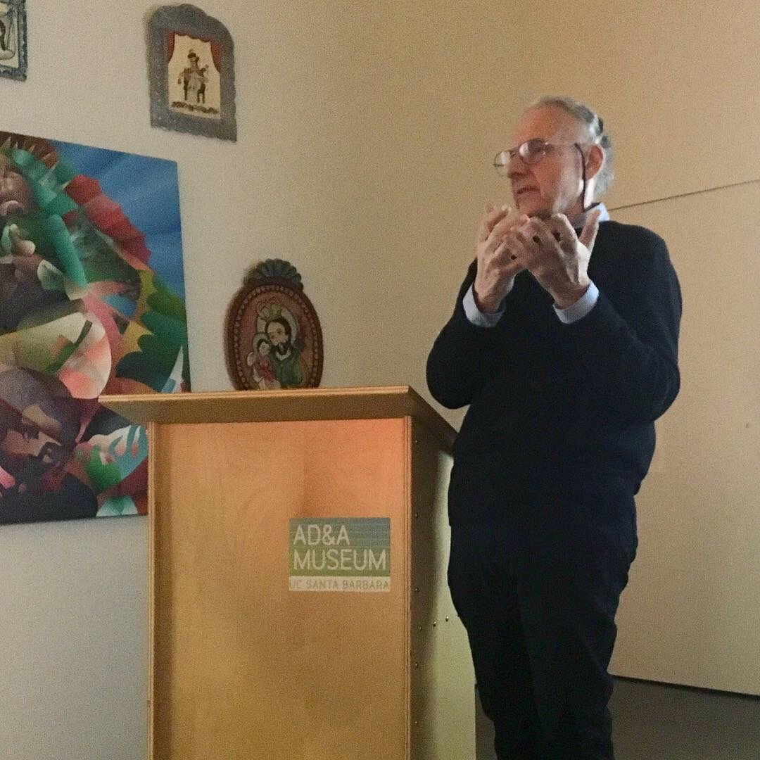 John Nava speaks at UC Santa Barbara's Art Design & Architecture Museum.