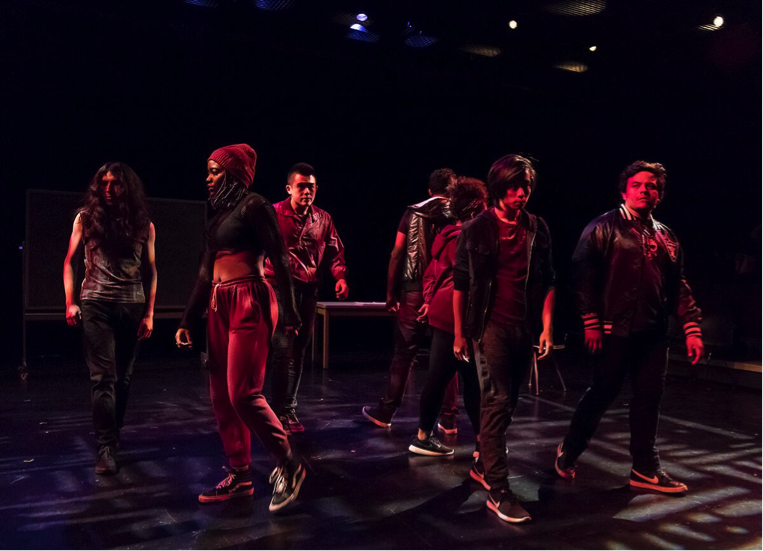 Gang Sines, written by Malique Guinn, was shown for Spring 2017's New Works Lab. (Photo by David Bazemore)