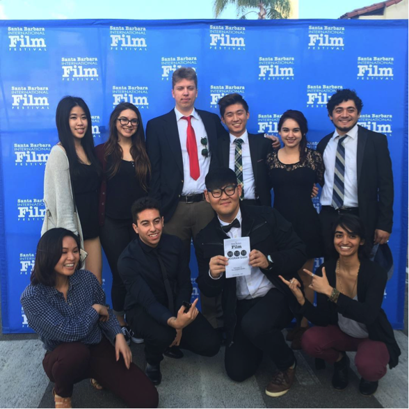 This student crew attended the world premiere of their short film,  Déjà Vu,  at the 2017 Santa Barbara International Film Festival.