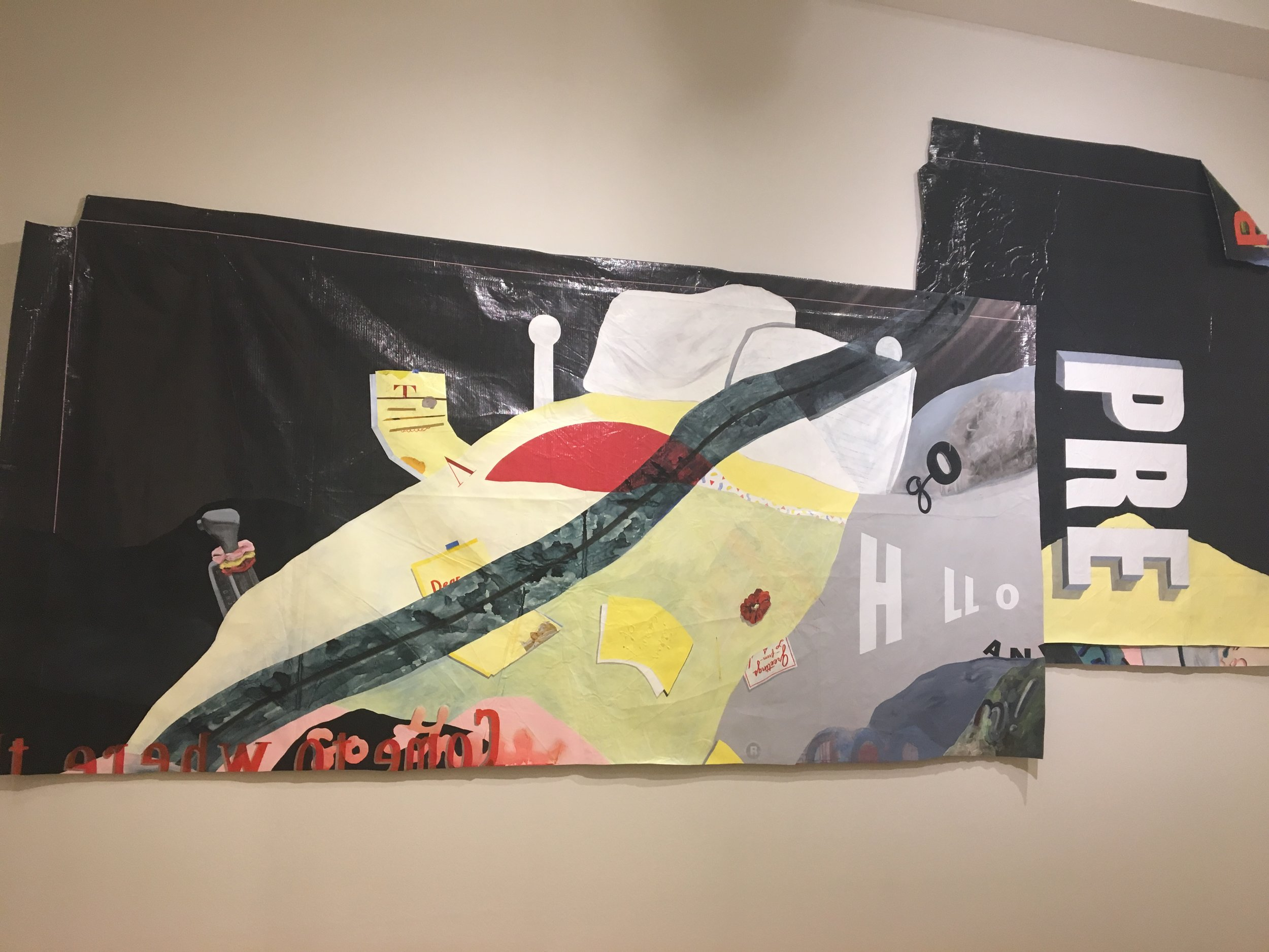 LA girlbrain room (diptych collage), 2019