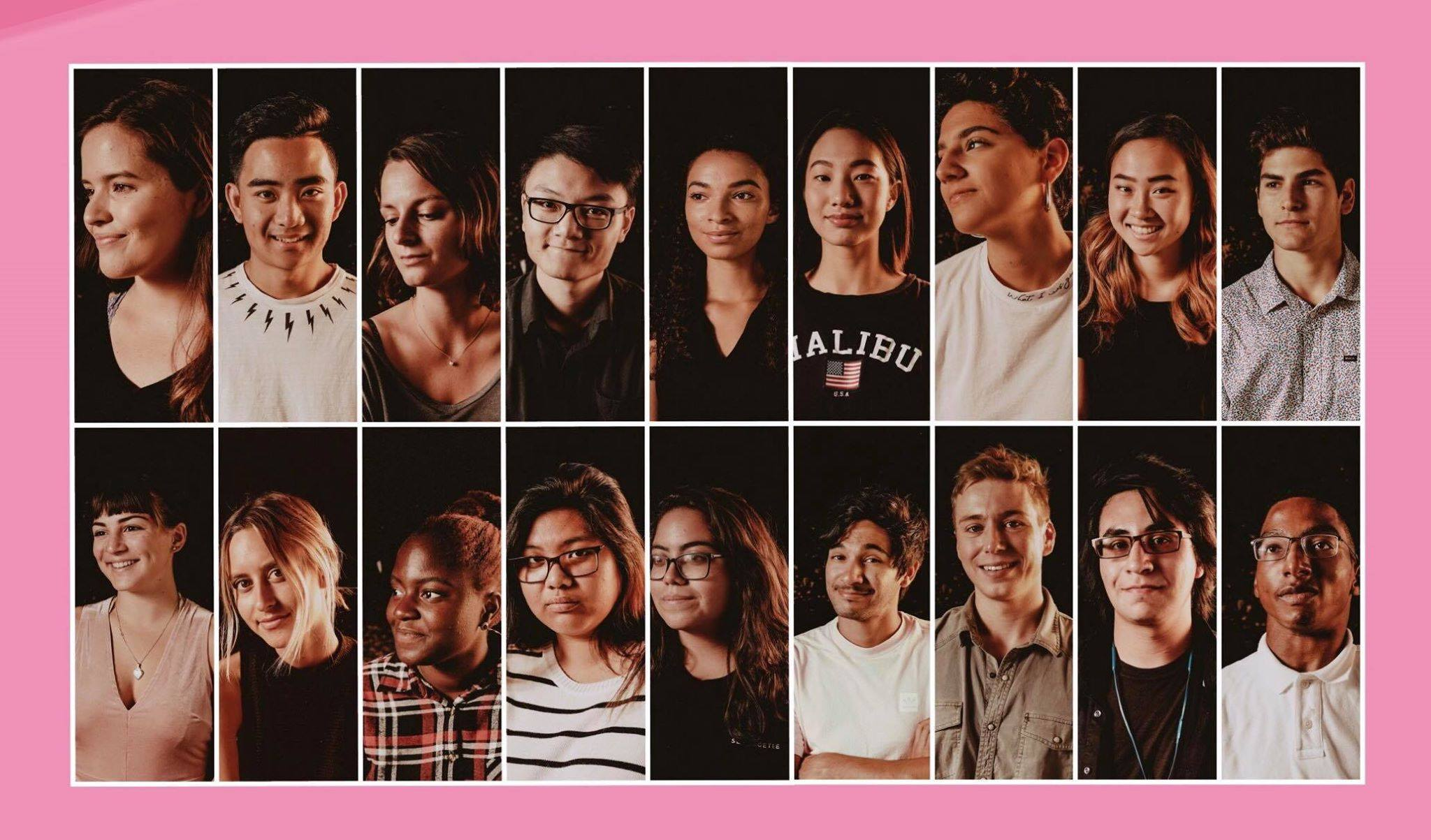 The student film crew for  Playdolls,  a documentary on human trafficking in San Diego produced by Film and Media Studies student Katelyn Zamudio, that premiered at UCSB's Pollock Theater in March.
