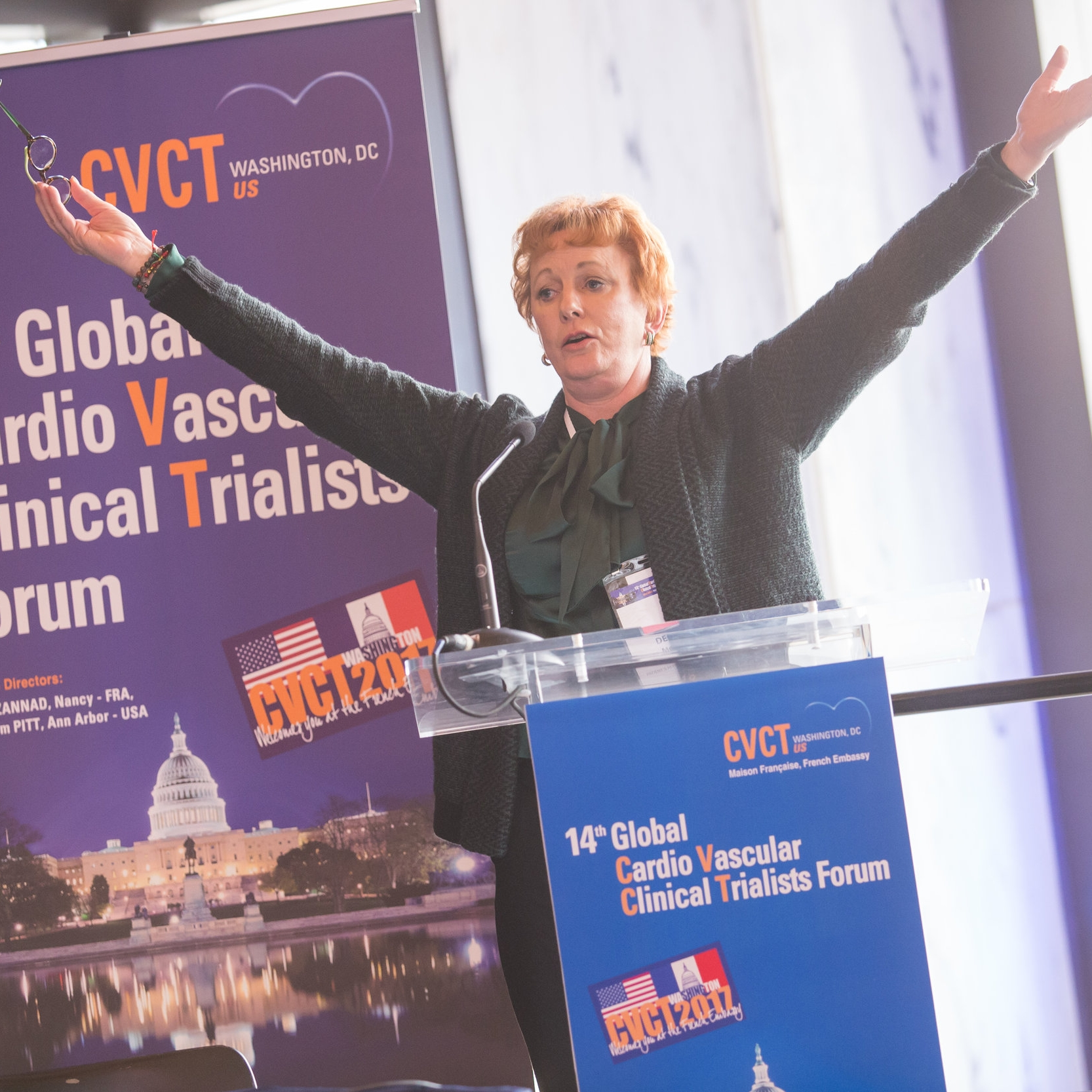 Debbe McCall giving the patient perspective at CVCT 2017