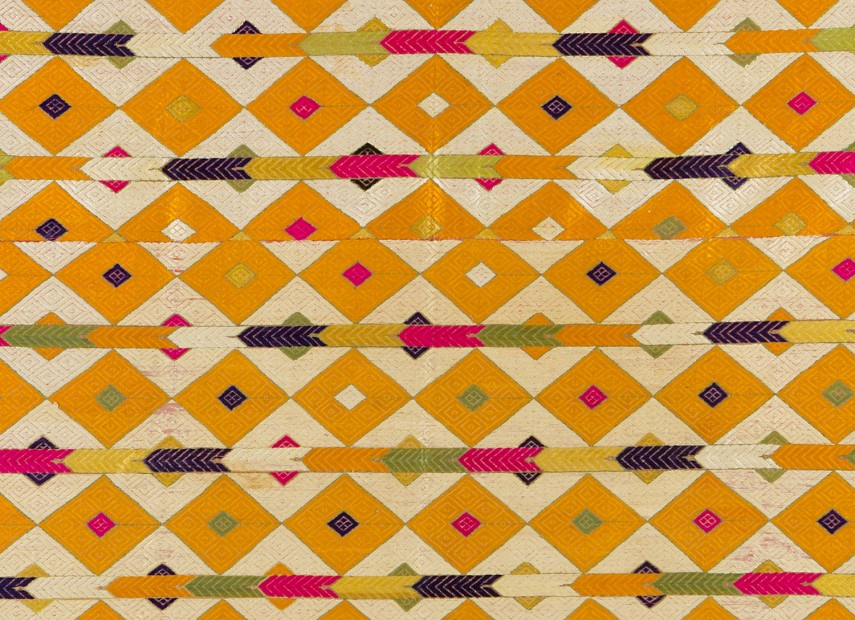 Phulkari Shawl , Unknown Maker | Embroidered cotton with coloured floss silks, c. 1950