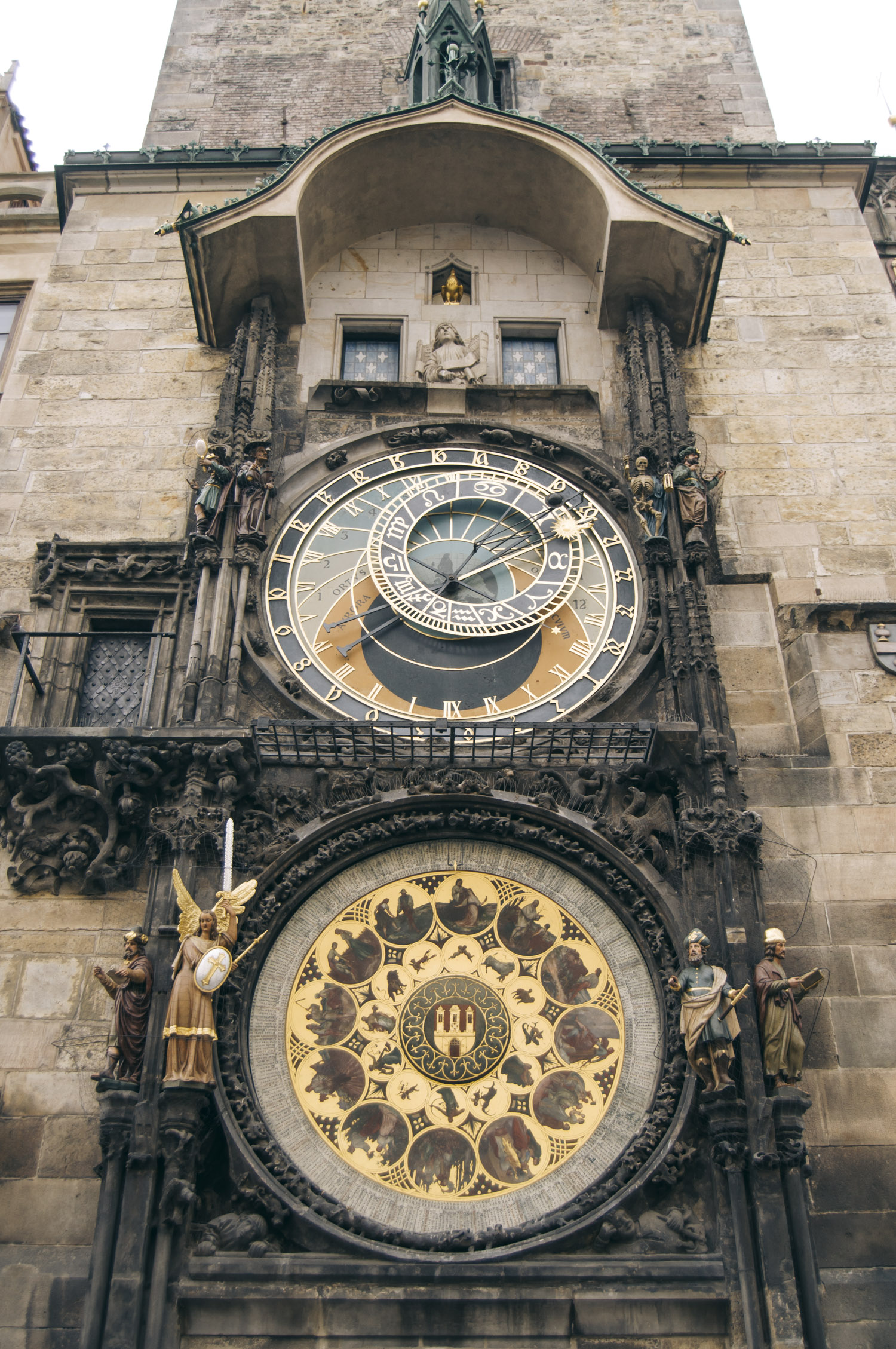 Astronomical Clock - The Old Town Hall was established in 1338 as the seat of the Old Town administration. The oldest part of the complex consists of a beautiful Gothic tower with a bay chapel and a unique astronomical clock – known as the Orloj – where, every hour between 9 am and 11 pm, the twelve apostles appear. The Gothic Revival eastern wing of the Town Hall was destroyed during the Prague Uprising on May 8, 1945 and was never rebuilt. The guided tour includes the historical halls, the tower and the underground areas.
