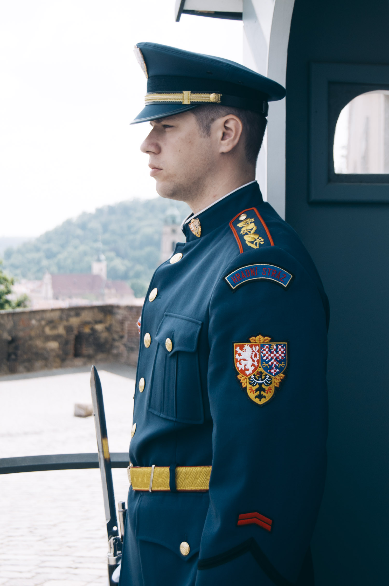 THE CASTLE GUARD - Armed Forces for the Safety of the Czech Republic. While walking through the Prague Castle, everyone certainly meets men in uniforms standing at the main entrance or patrolling in other places.You can always see them close to the President during important politic actions.