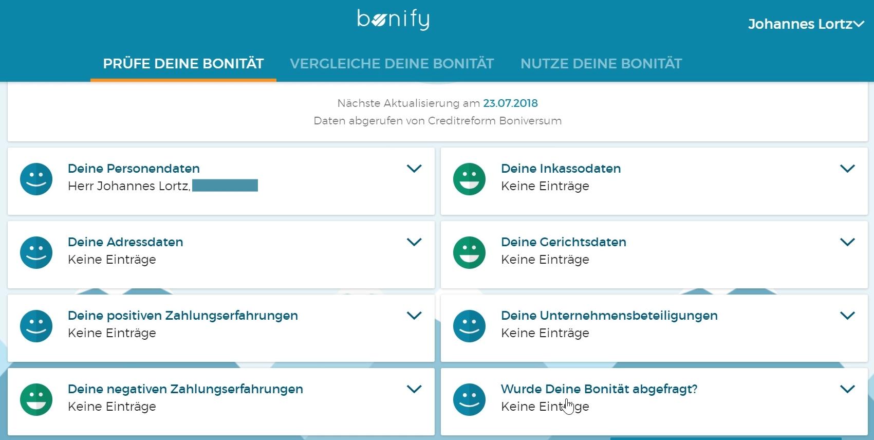 Die Bonität und Einträge lassen sich bei bonify online prüfen