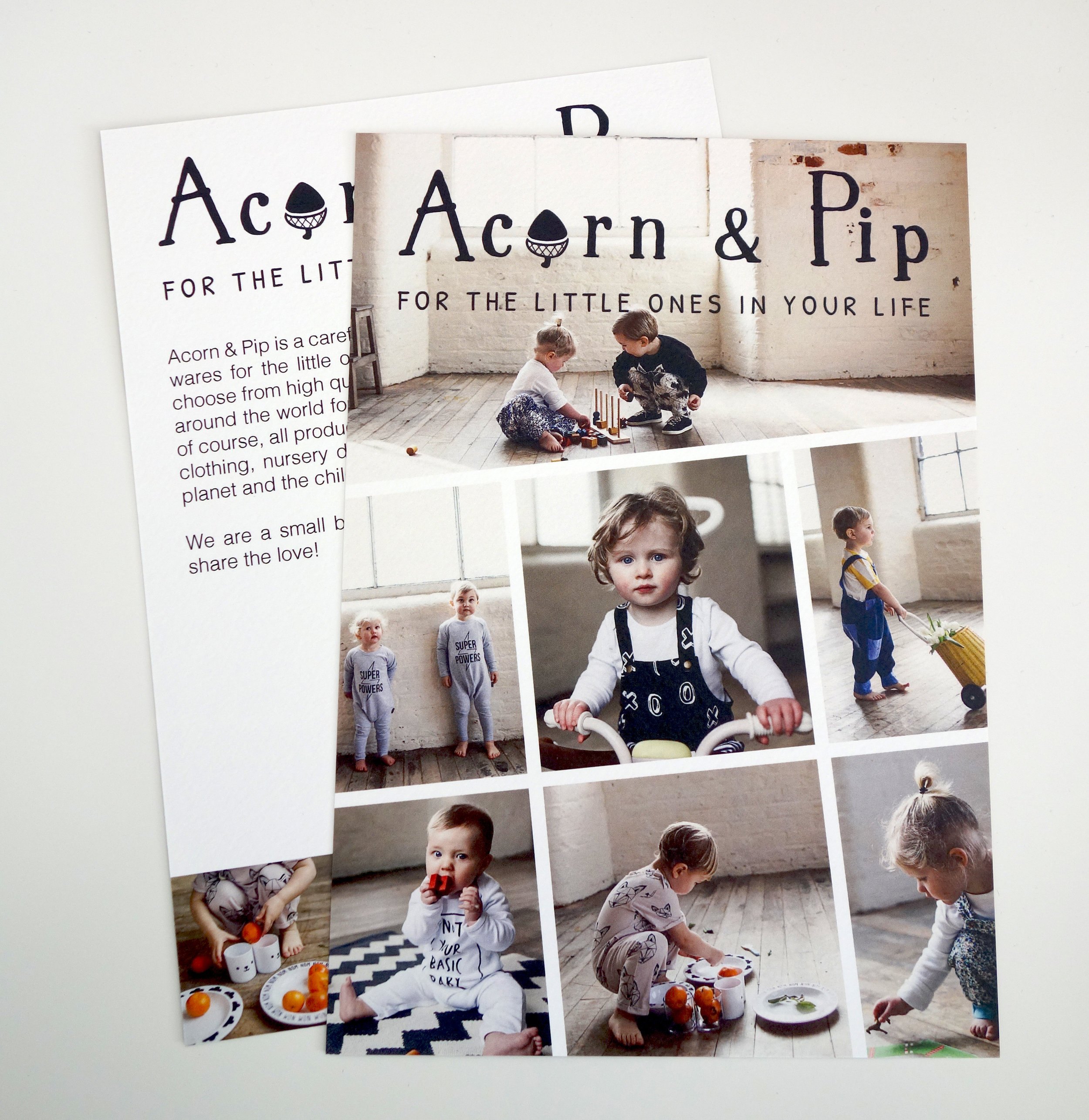 ACORN & PIP | A5 PROMOTIONAL FLYER