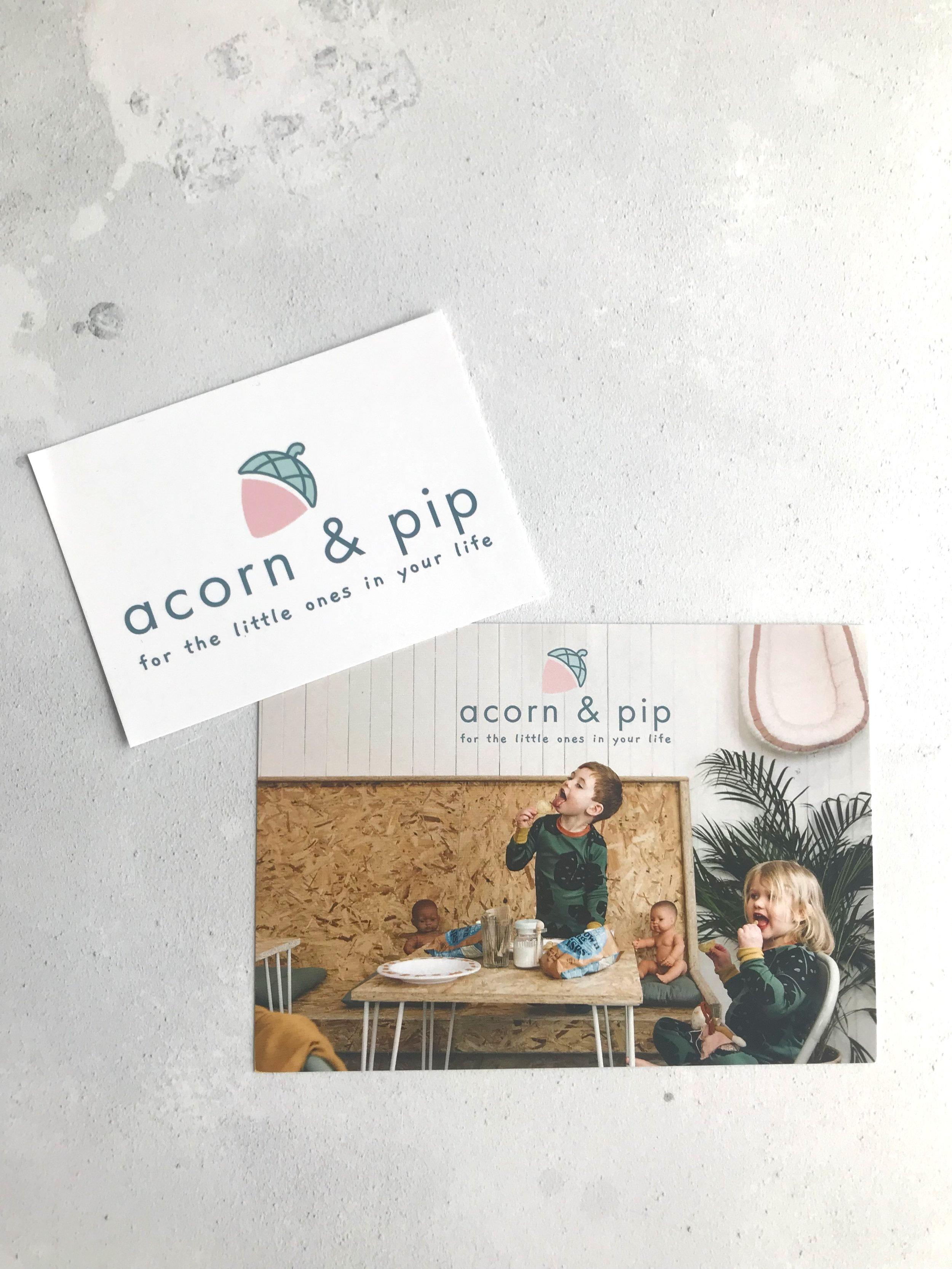 ACORN & PIP | POSTCARD & FLYER DESIGN