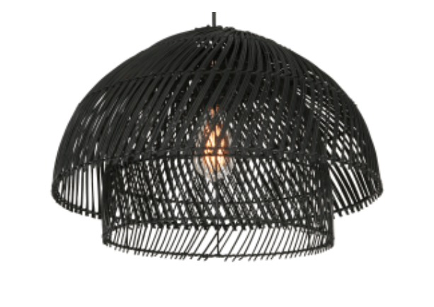 Made.com Java Black Rattan Lightshade