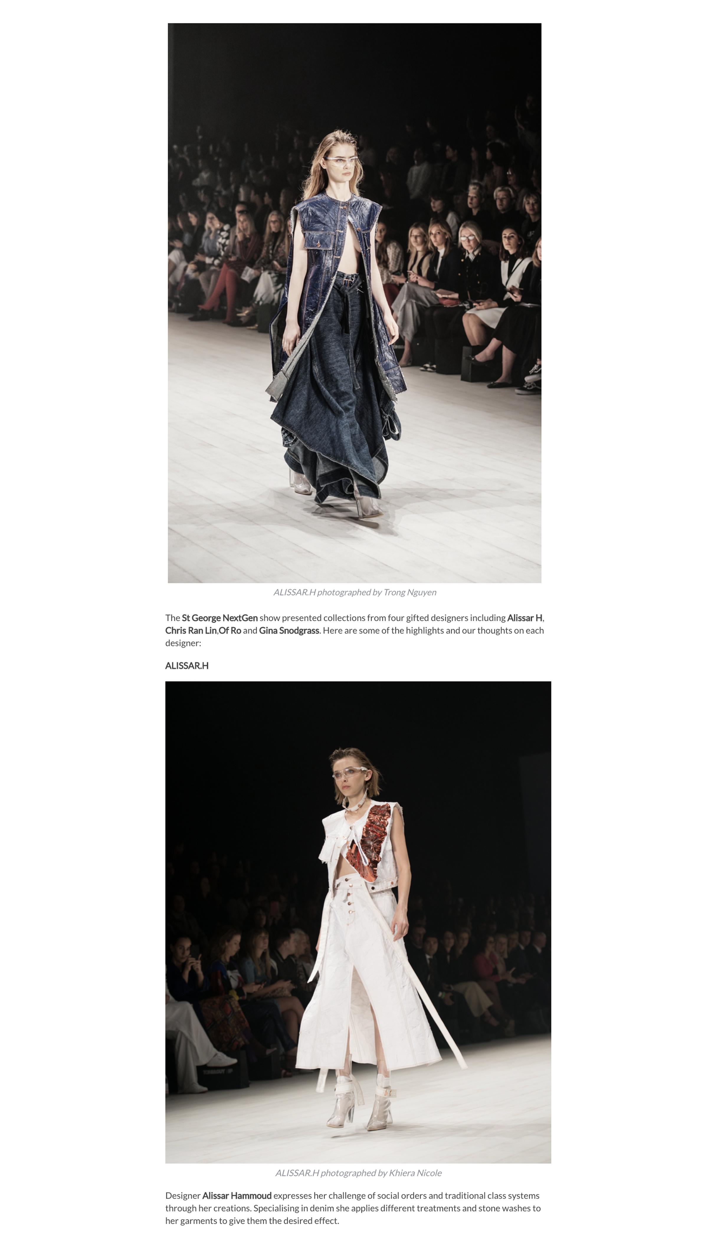 Copy of THE ST. GEORGE NEXTGEN SHOWCASE FEATURED UP & COMING DESIGNERS