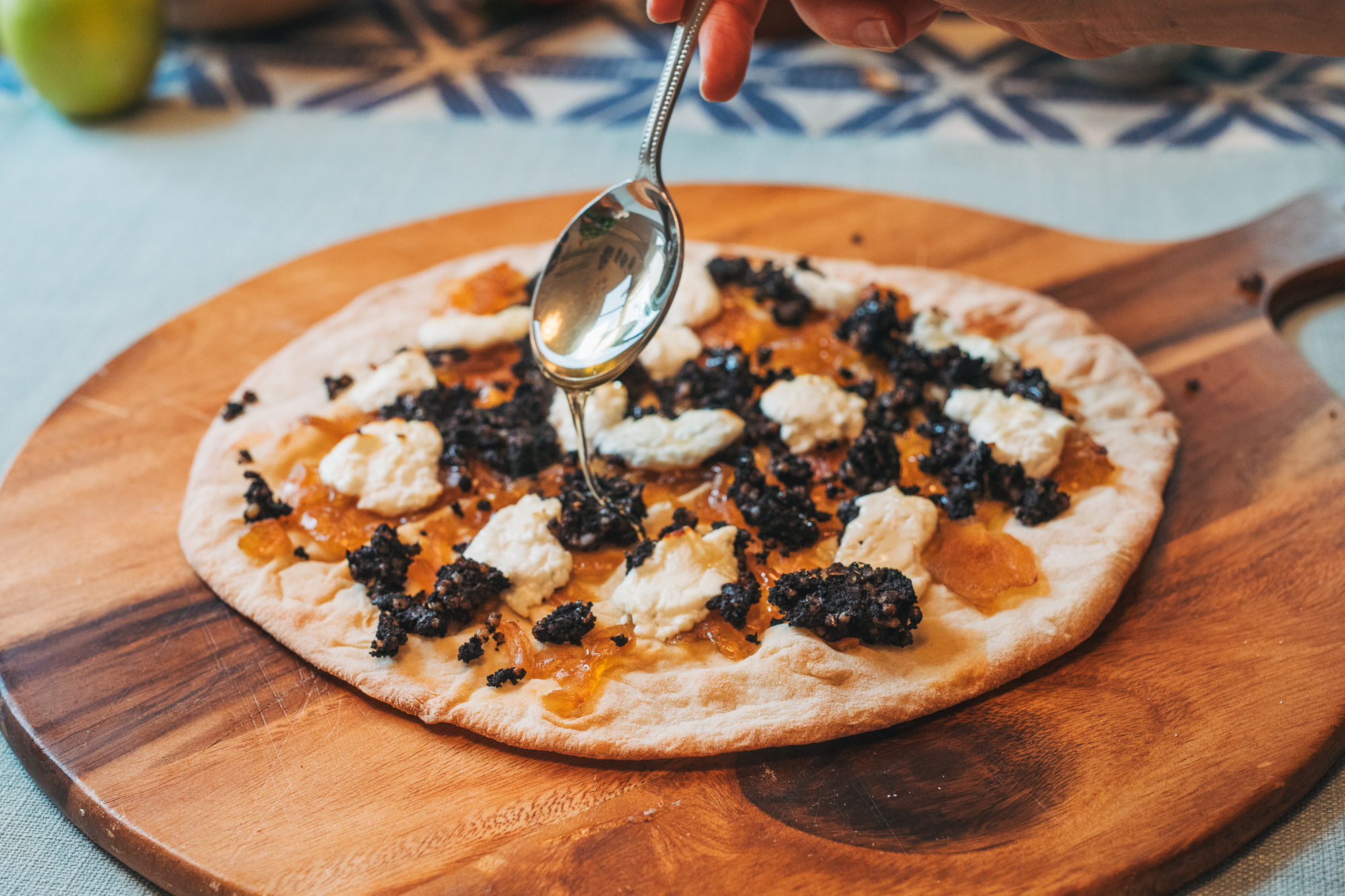 Inch house black pudding pizza