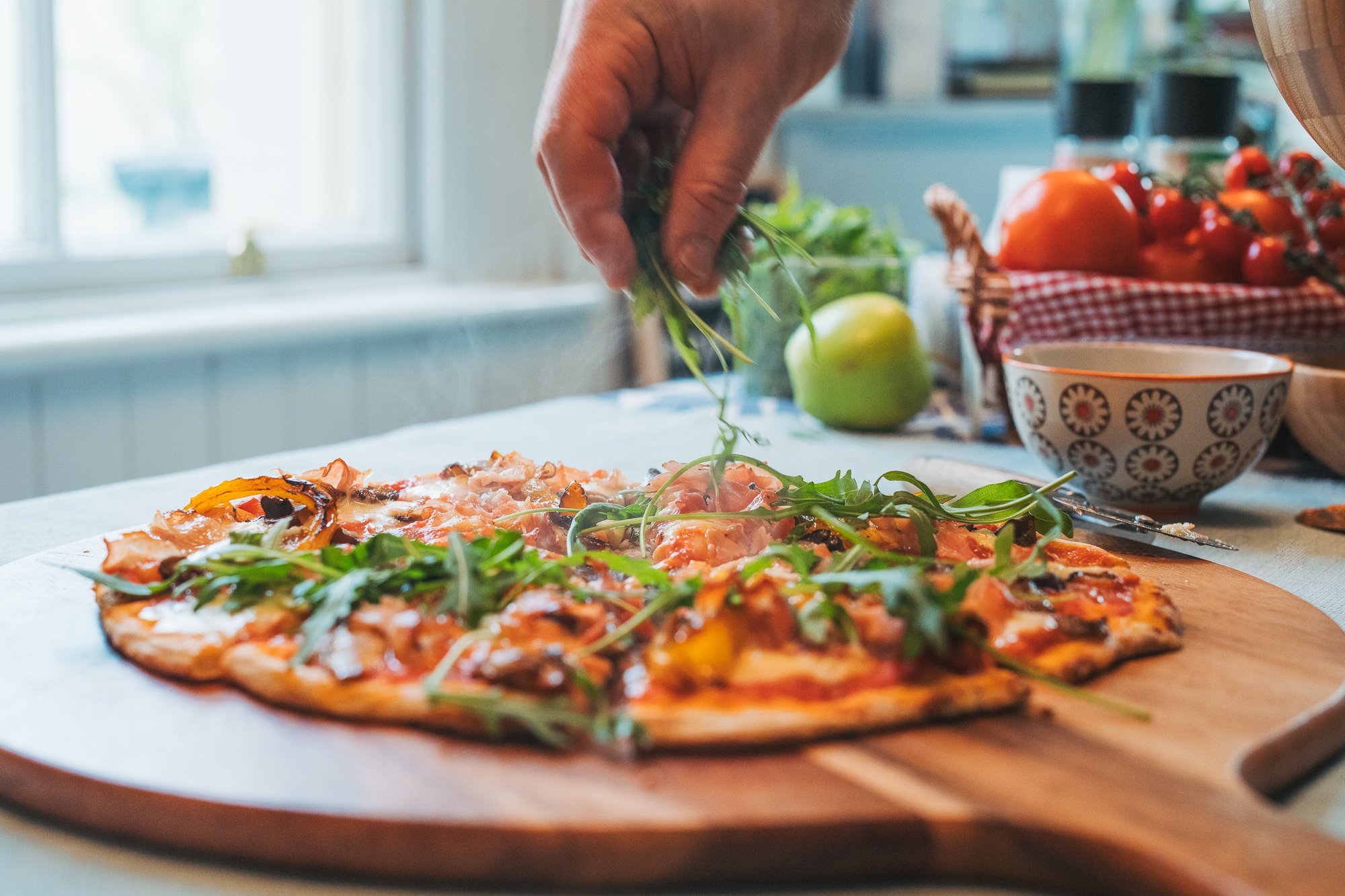 ham mushroom pepper pizza