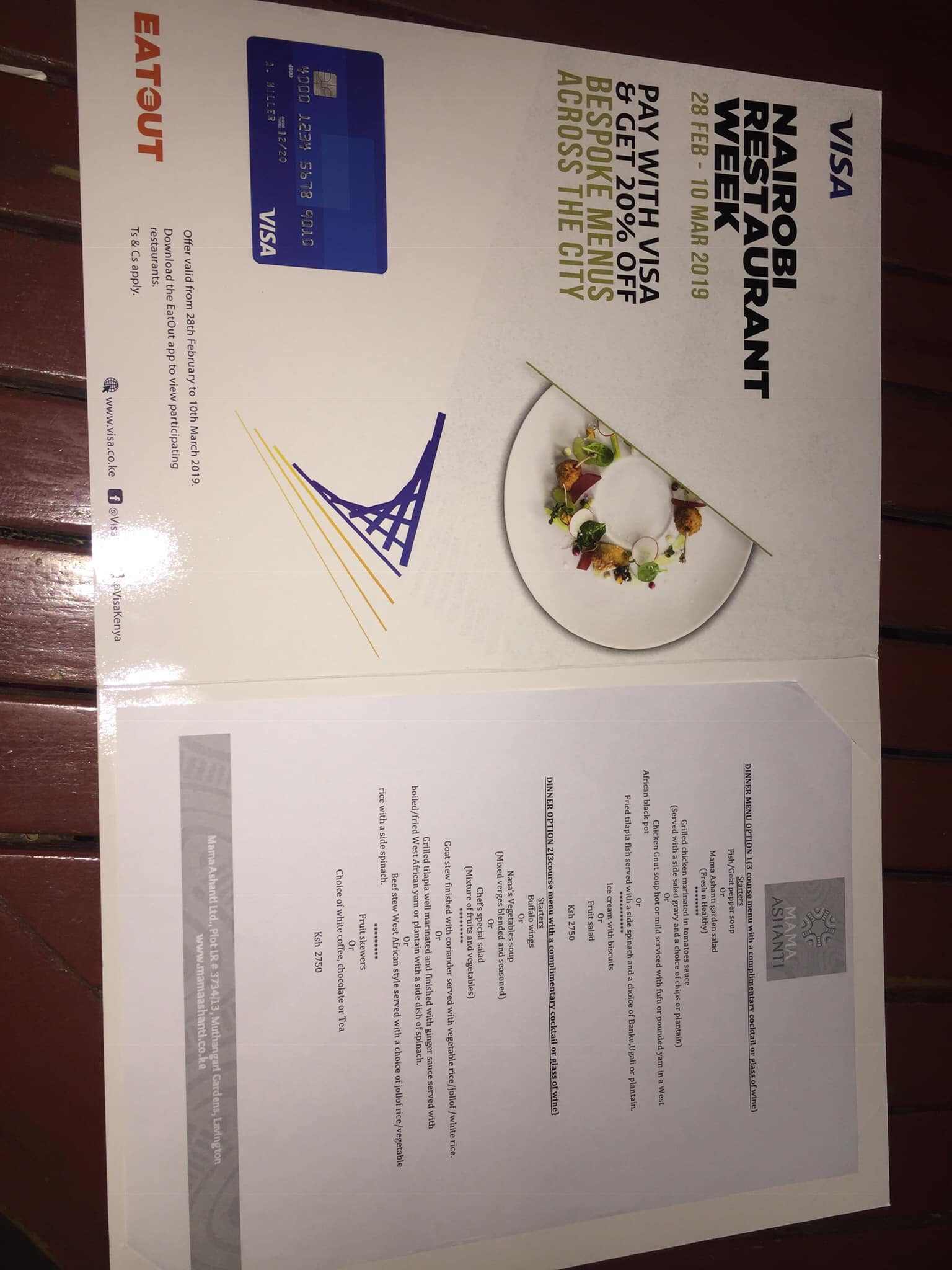 I'm a sucker for Restaurant Week in NY so I was pleasantly surprised that Nairobi also has one. Yo! Freetown/Accra we need to make RW a thing.