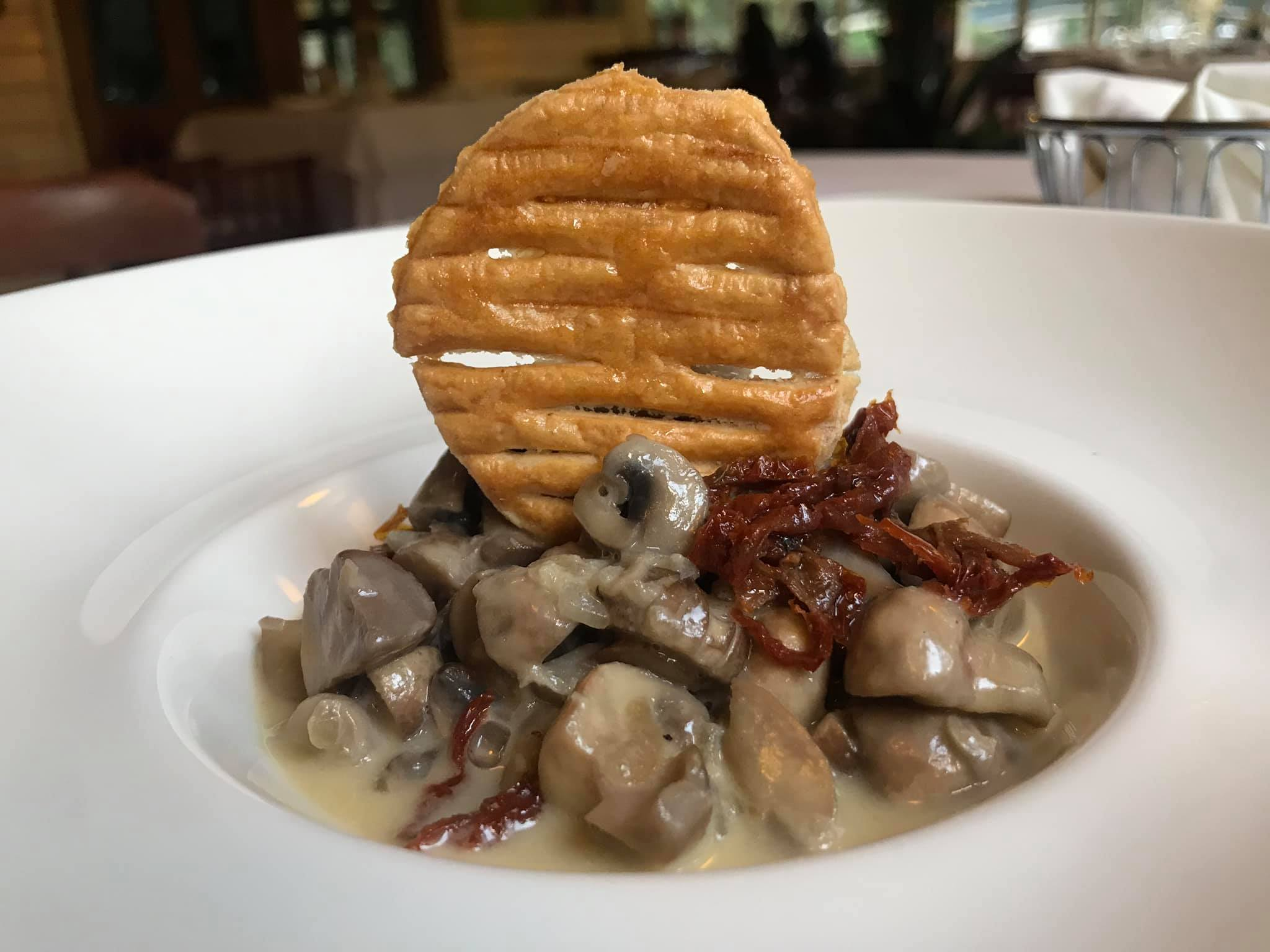 Delicious but tiny plate mushroom dish at The Lord Erroll was yum