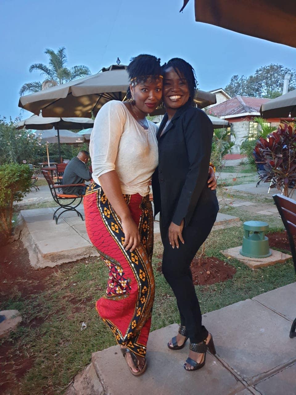 With my GoWoman sister Gemini at Mama Ashanti