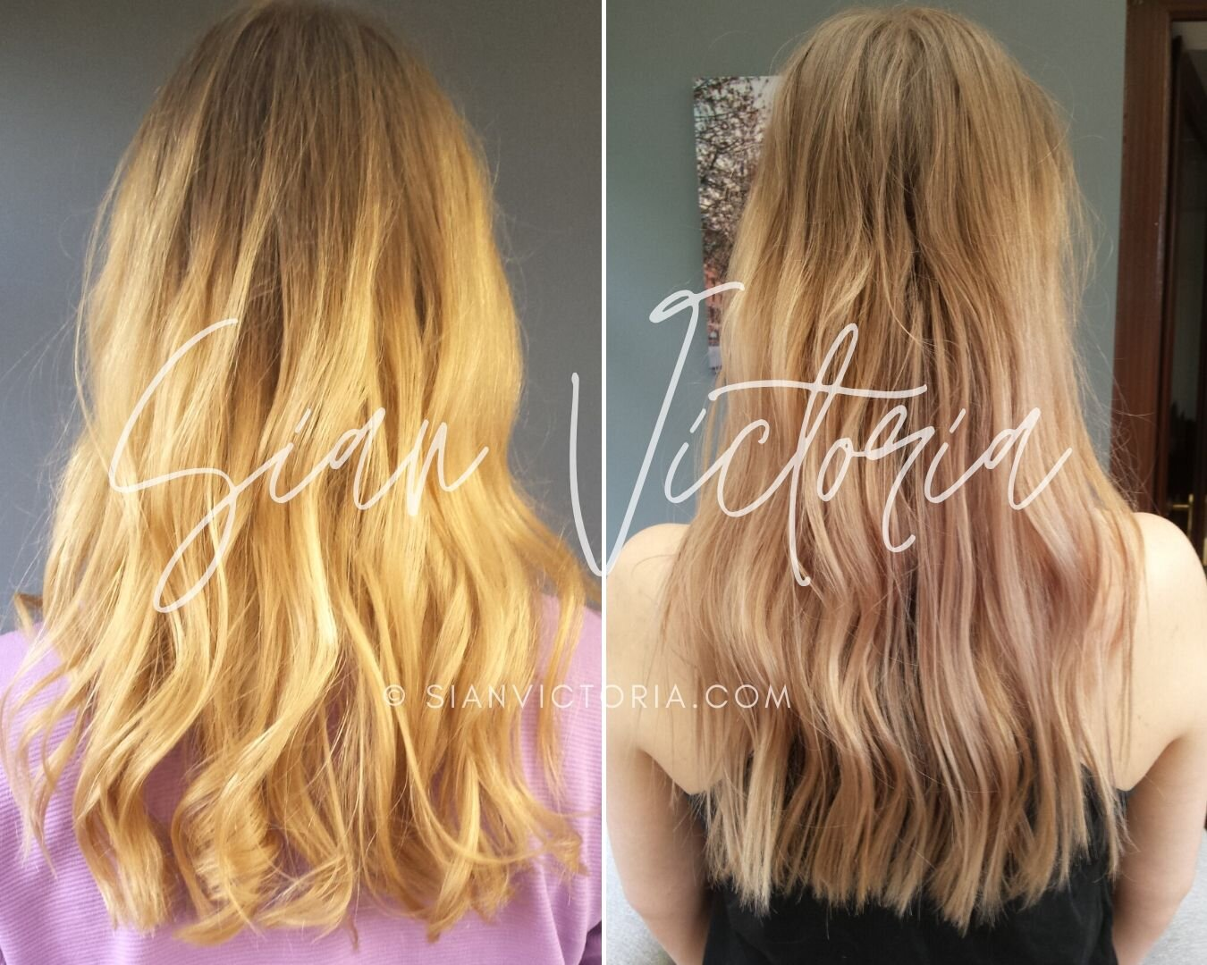 How To Get Rid Of Brassy Hair Before After Purple Toner Sian Victoria