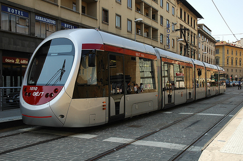 The Firenze tram line provides a quick way to move across the city