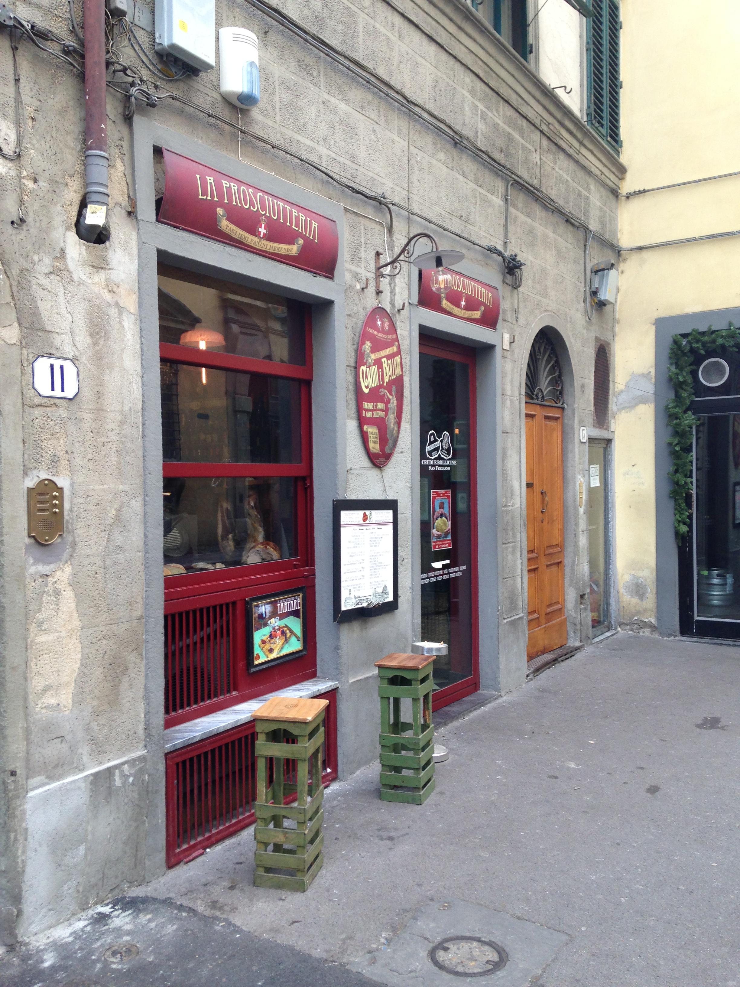 La Prosciutteria Borgo San Frediano 15, Firenze