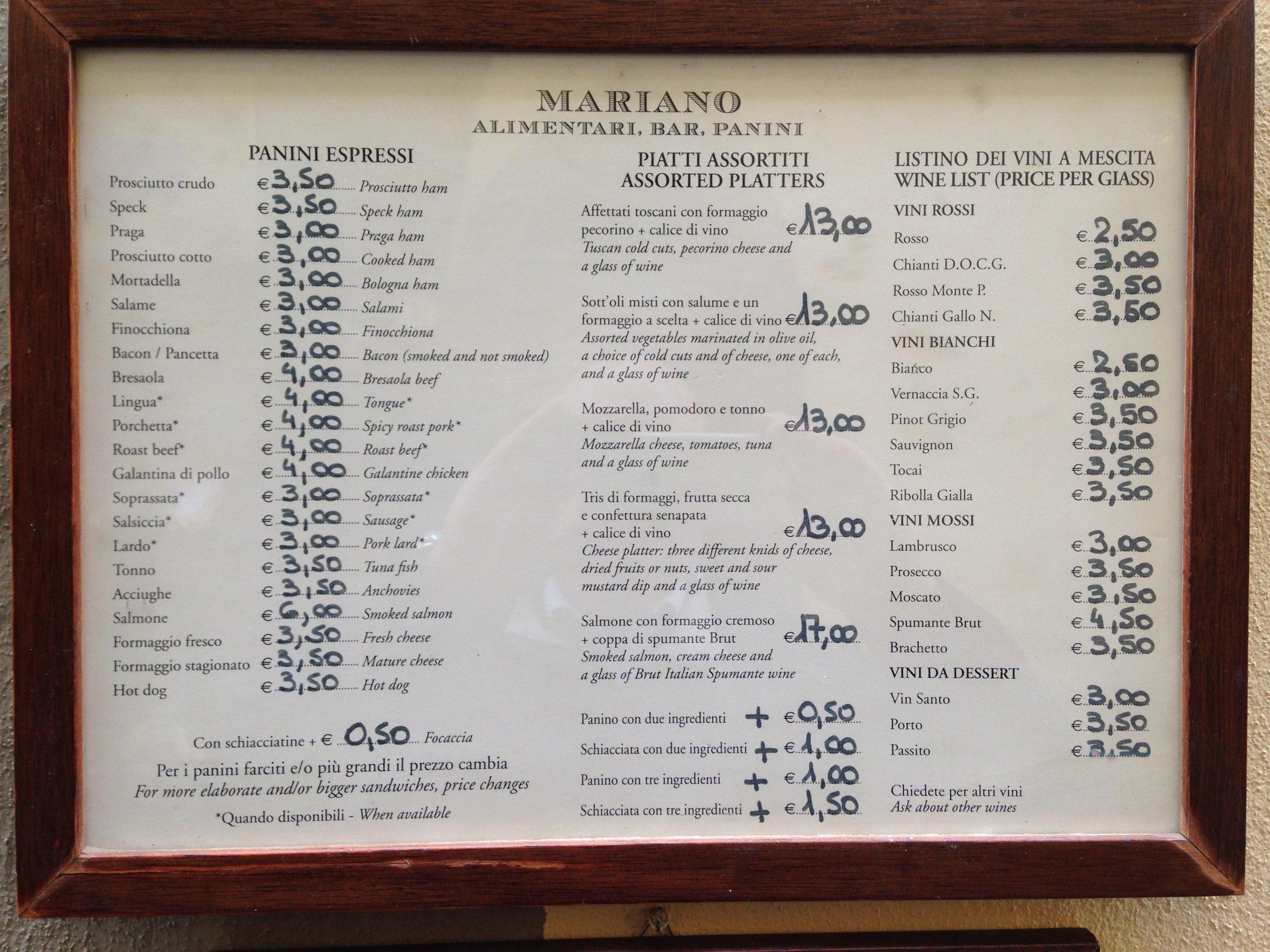 Alimentari Mariano, via del parione, 19r