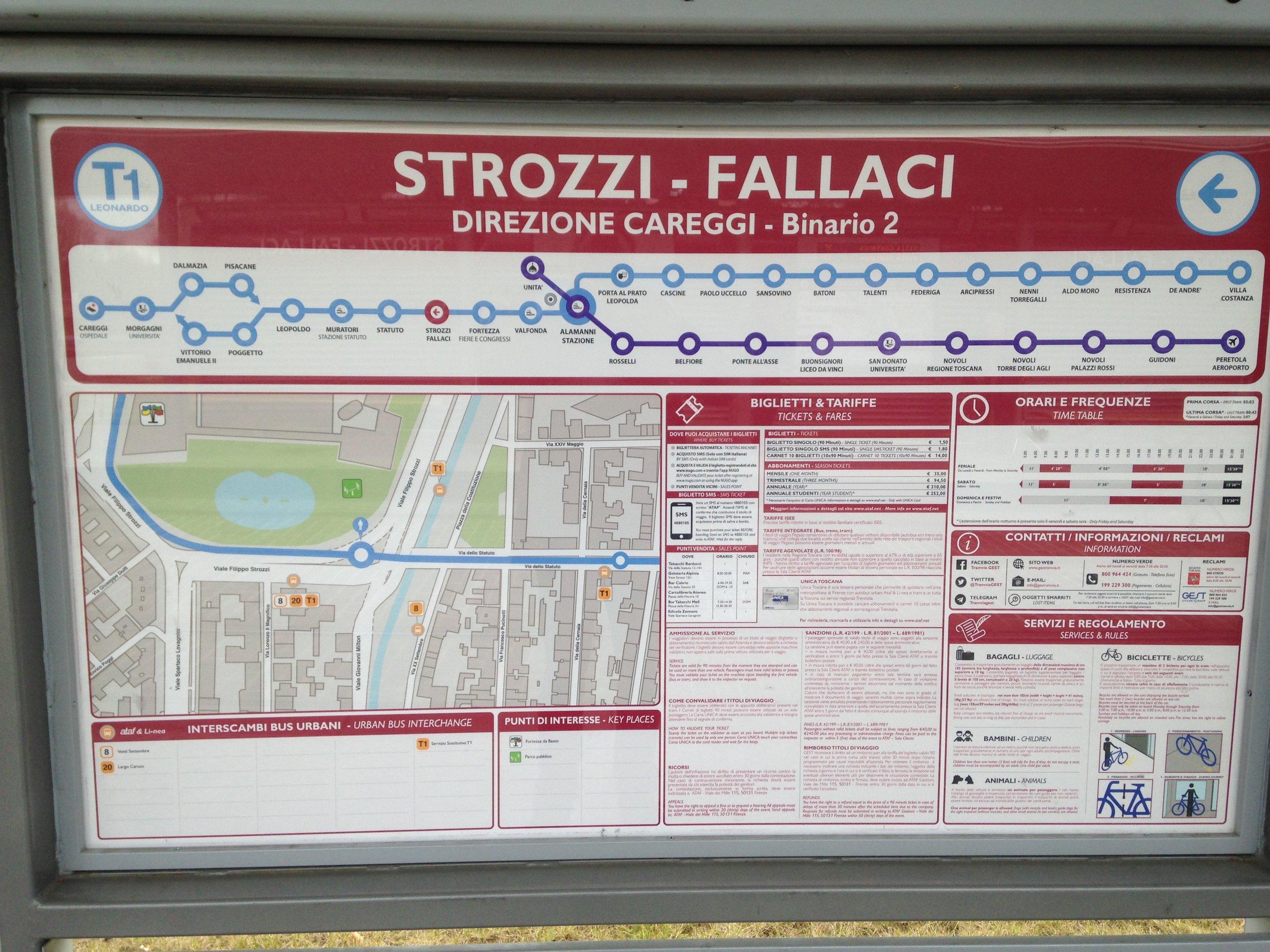 Firenze Tram map