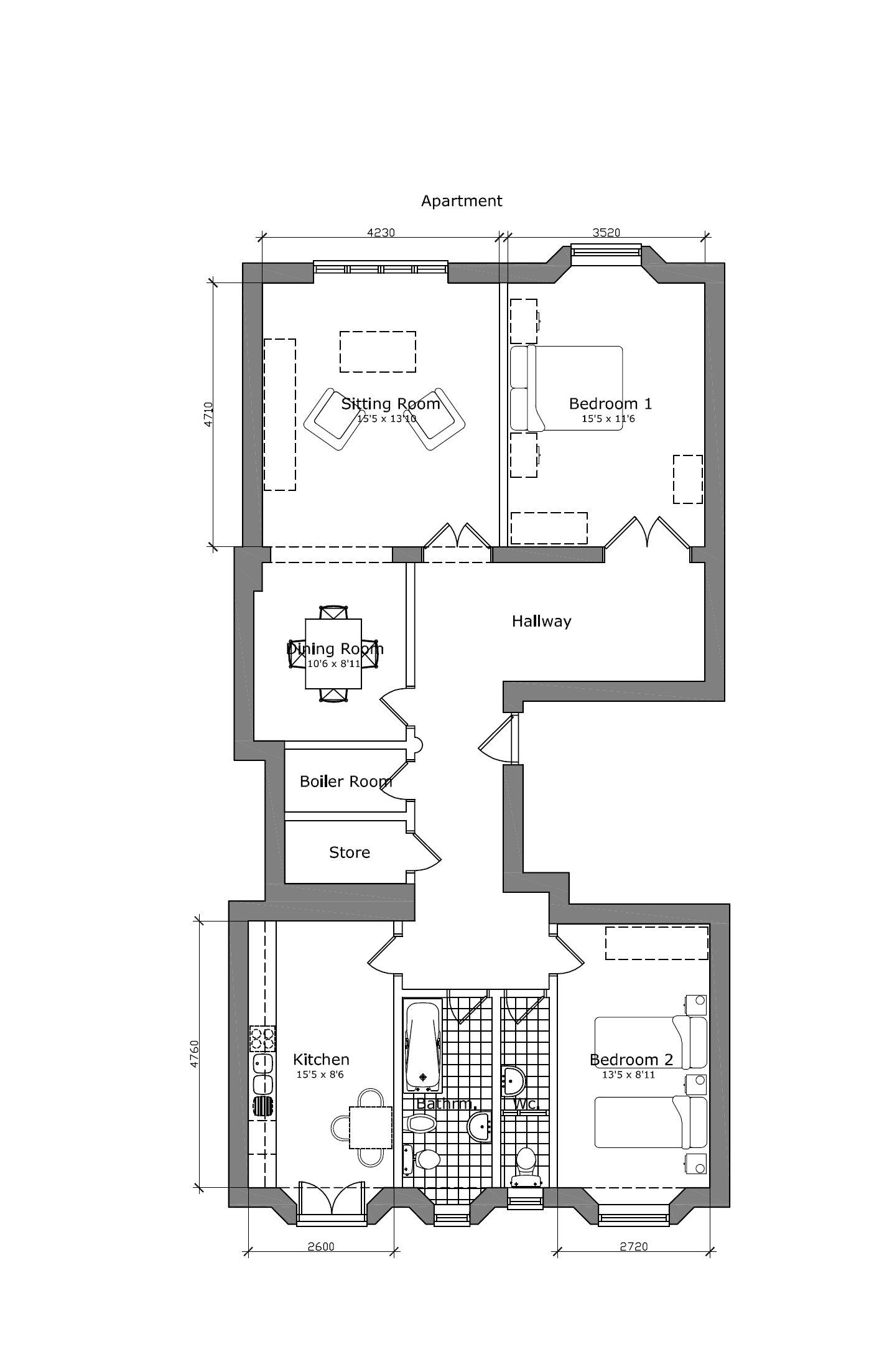 viale giovanni milton floor plan