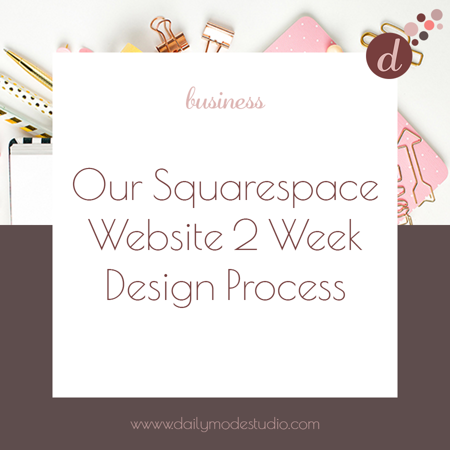 Our Squarespace Website 2 Week Design Process