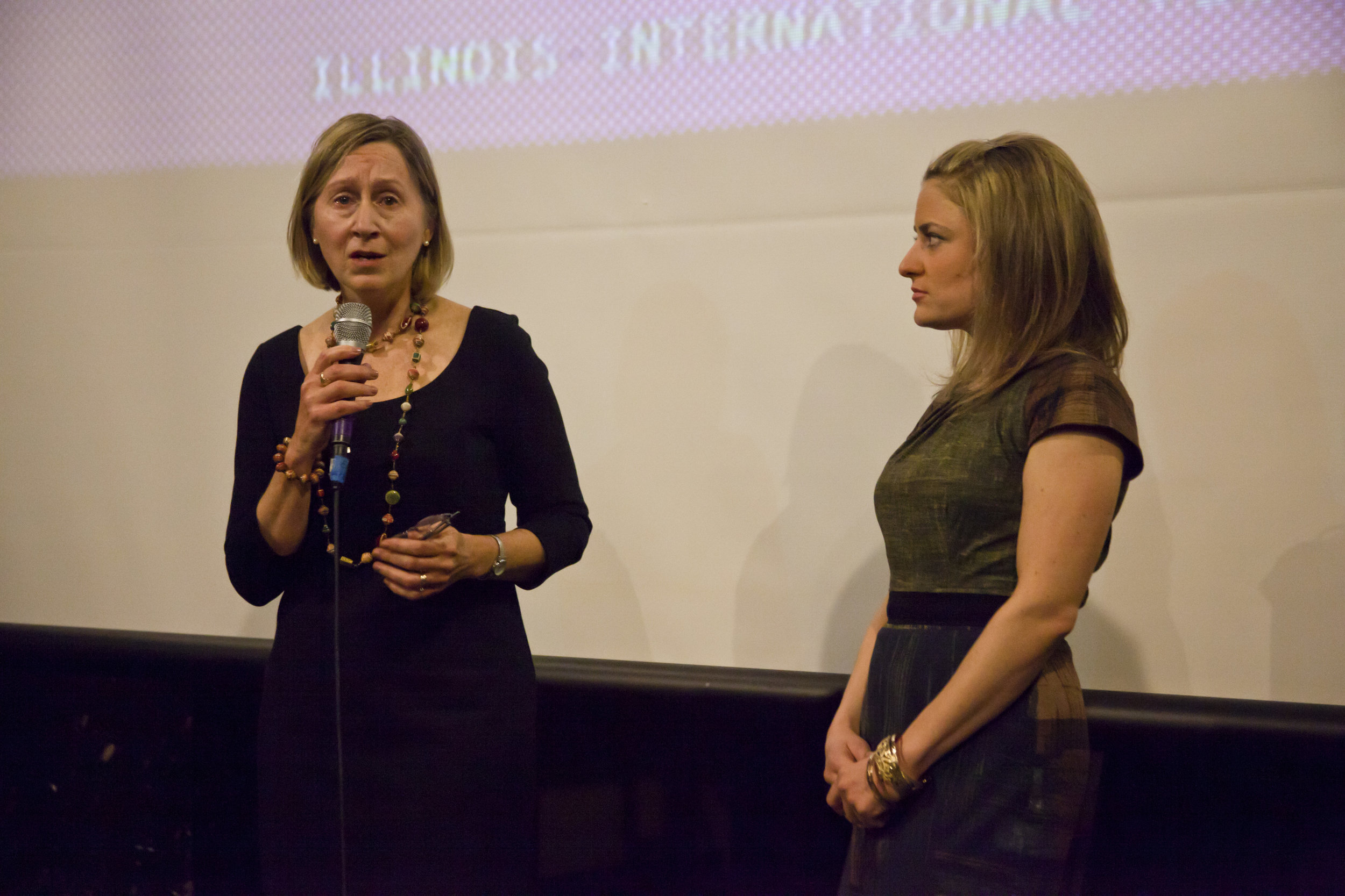 Q&A at Illinois International Film Festival